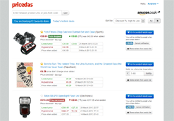 Pricedas Amazon product tracker preview